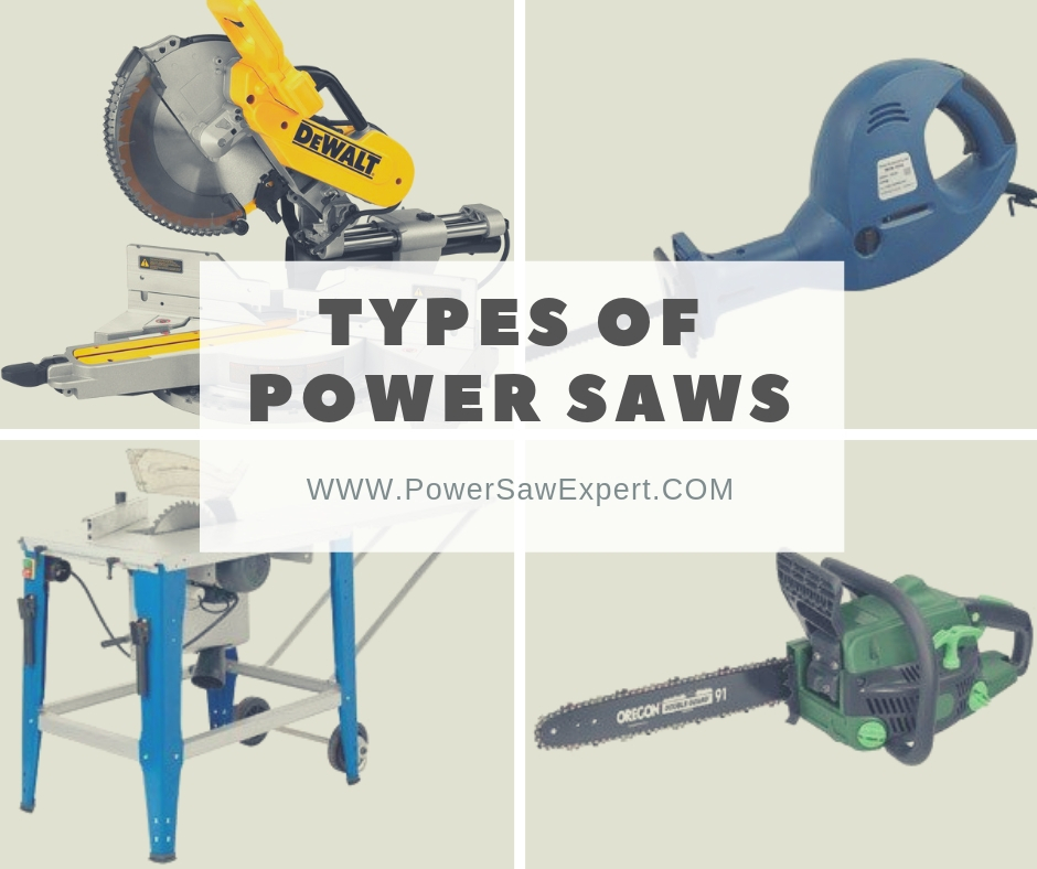 Different types of power saws
